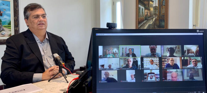 ENCONTRO VIRTUAL: Flávio Dino dialoga com bispos sobre ações de combate ao coronavírus