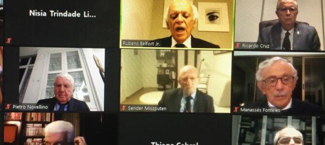 ANIVERSÁRIO: Reitor Natalino Salgado participa virtualmente  das comemorações dos 191 anos da Academia Nacional de Medicina