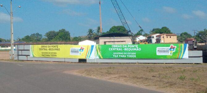 MARANHÃO: Vigas metálicas chegam ao canteiro de obras da Ponte sobre o Rio Pericumã