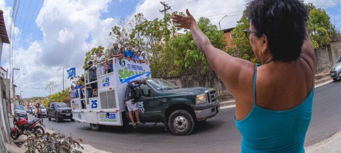 SÃO LUÍS: Neto Evangelista mostra grande popularidade durante carreata no Itaqui-Bacanga, neste domingo (18)