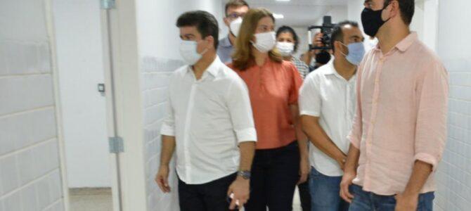 PORTO FRANCO: Acompanhado do prefeito Deoclides, secretário Rubens Jr. visita obras de readequação do hospital municipal